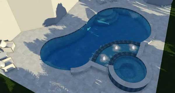 Pool 3D rendering