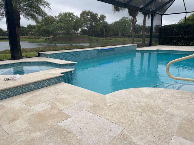 Azure pool construction